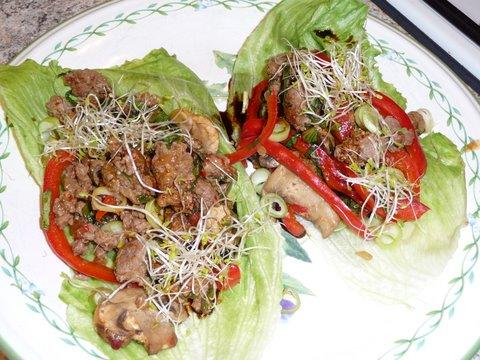 Moo Shu Beef Lettuce Cups - 4 Points