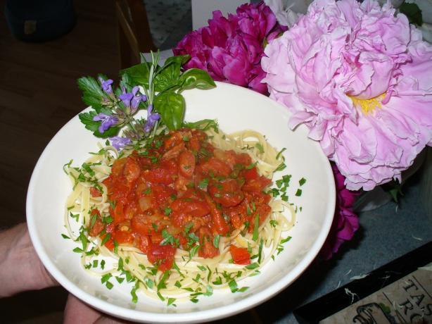 Pasta in Chorizo & Tomato Sauce (Spanish Pasta Dish)