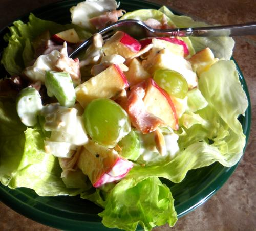 Leftover Chicken Ranch Salad