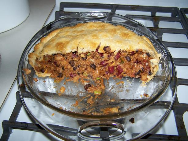 Spicy Bean and Beef Pie