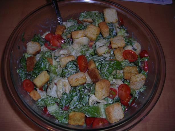 Kittencal's Caesar Tortellini Salad