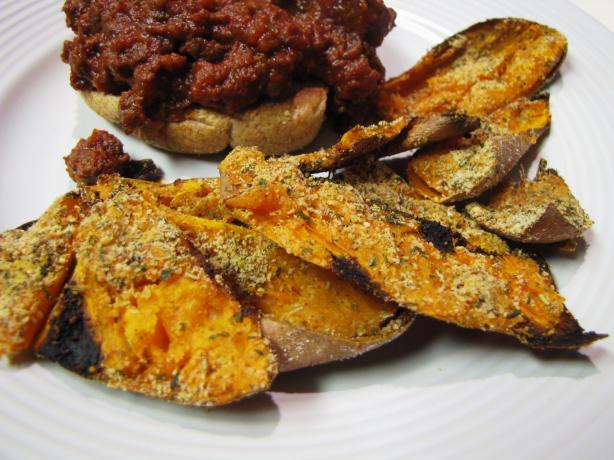 Parmesan-Roasted Sweet Potato Skins