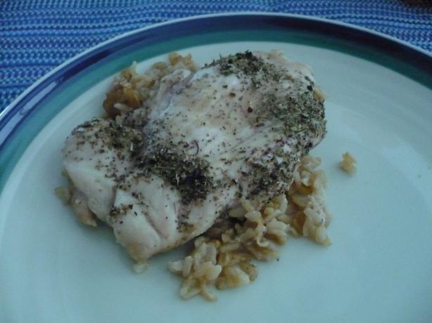 Lemon-Herb Chicken & Rice Bake