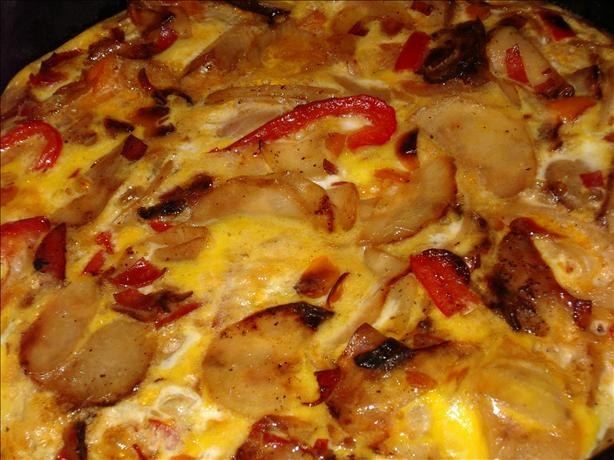 Potato and Red Pepper Frittata