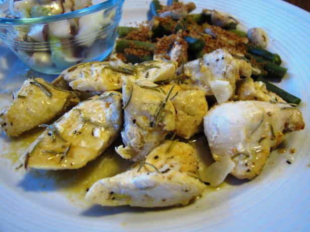 Garlic Roast Chicken With Rosemary and Lemon