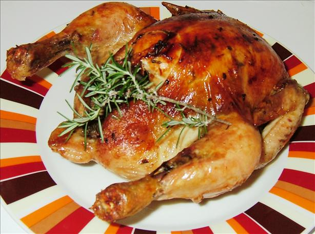 Roasted Rosemary Chicken with Lemon/Soy Sauce
