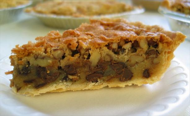 Nestle' Toll House Walnut Pie (Aka Black Cat Pie)
