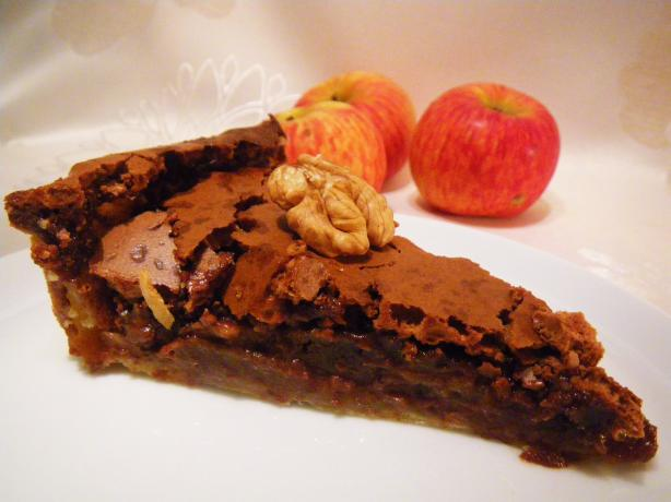 Delicious Chocolate, Apple, Walnuts Pie