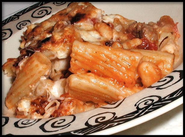 Baked Rigatoni & Sausage, Tuscan Style