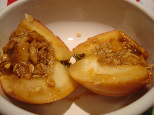 Caramel Baked Apple Crisps