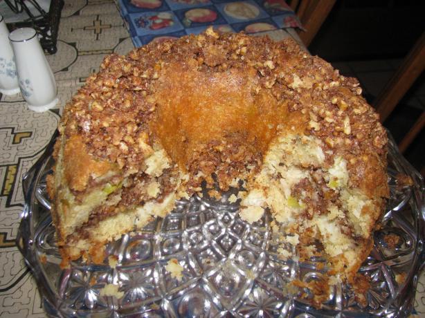 Apple Sour Cream Cinnamon Walnut Bundt Cake