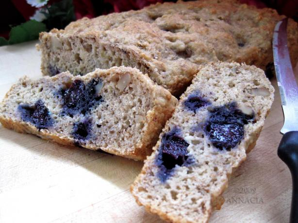 Banana - Applesauce - Blueberry and Walnut Fat-Free Quick Bread