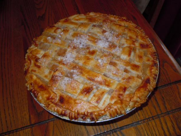 Sour Cream Peach Pie