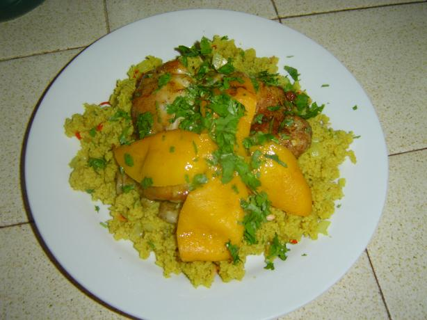 Moroccan Chicken With Preserved Lemons and Couscous