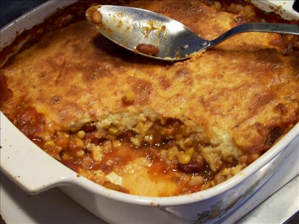 Spoon Bread Chili Pie