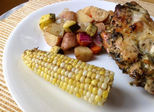 Basil Lemon Brined Grilled Chicken
