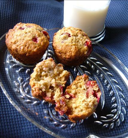 Cranberry Banana Oat Muffins