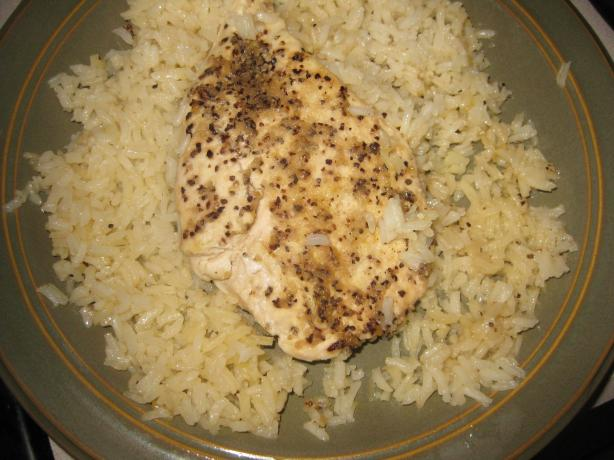 Lemon Pepper Chicken Breasts on a Bed of Rice