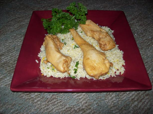 Garlic Chicken on Rice