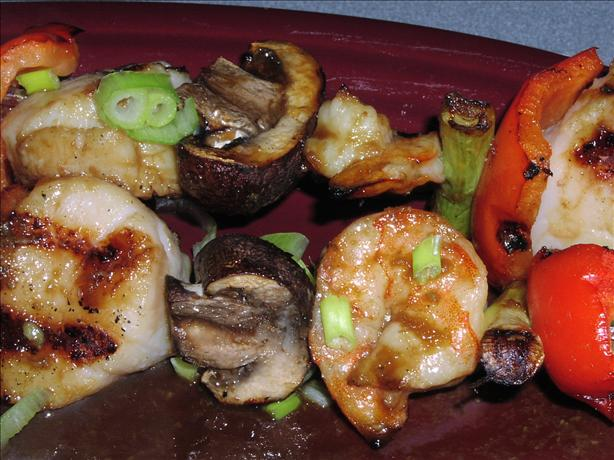 Soy-Wasabi Shrimp and Scallop Skewers - Weight Watchers