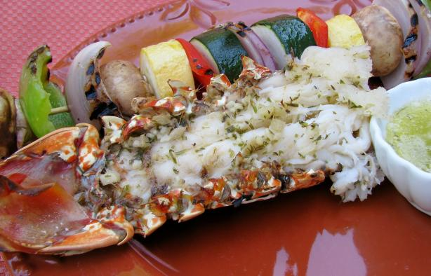 Grilled Garlic Tarragon Lobster Tails