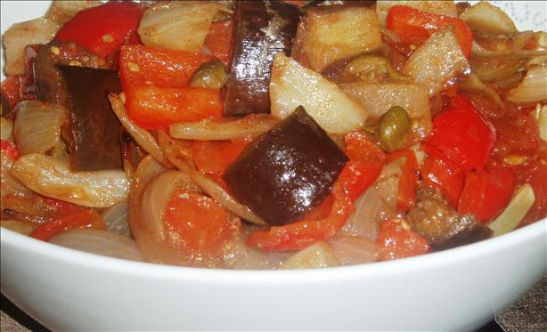 Roasted French Vegetables in Hot Balsamic and Olive Oil Dressing