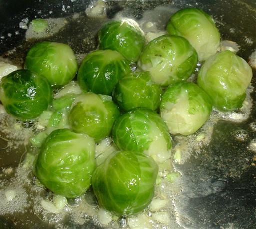 Basic Garlic Butter Brussels Sprouts