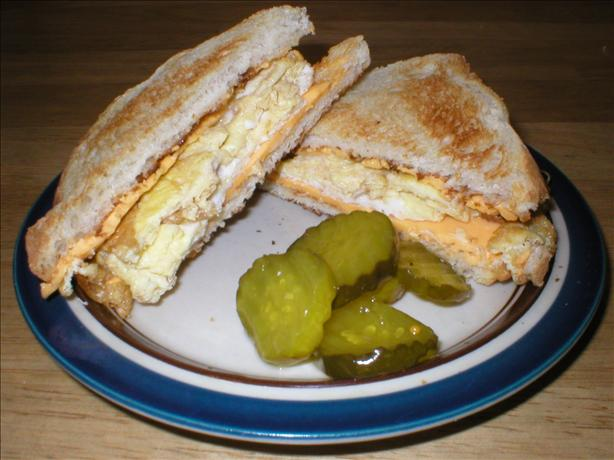 Midnight Eggs and Cheese Sandwich