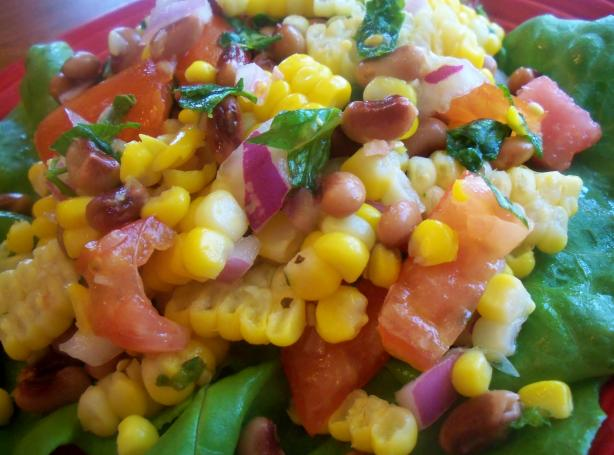 Pinto Bean, Fresh Corn and Tomato Salad