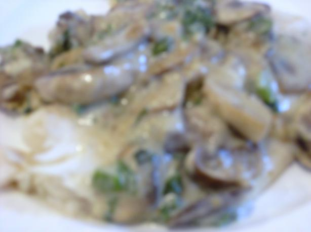 Fish Fillets With Mushroom-Lemon Sauce