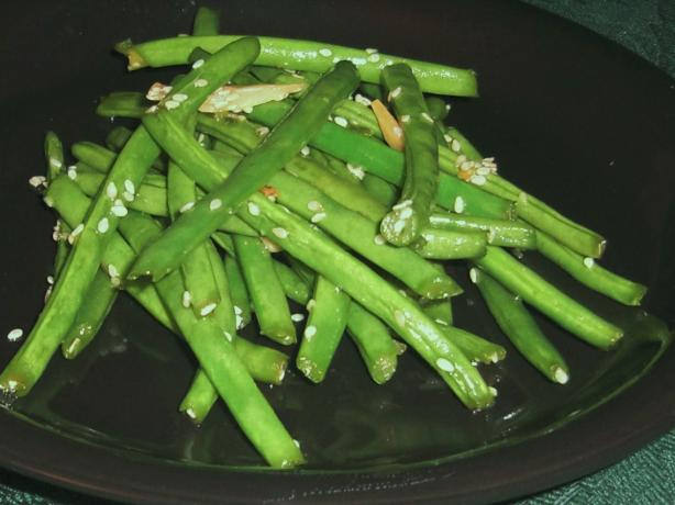 Green Beans with Sesame & Garlic
