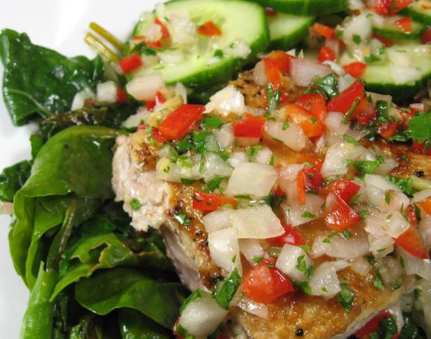 Sauteed Fish With Thai Coriander-Chili Sauce