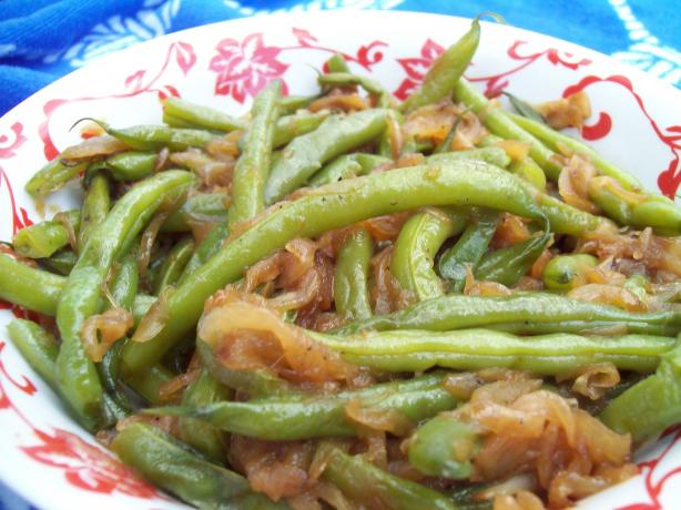 Fresh Green Beans With Caramelized Vidalia Onions