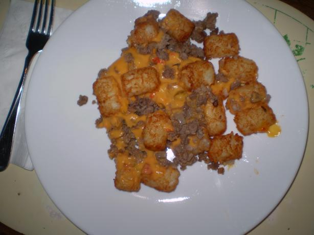 Beef and Onion Tater Tot Casserole
