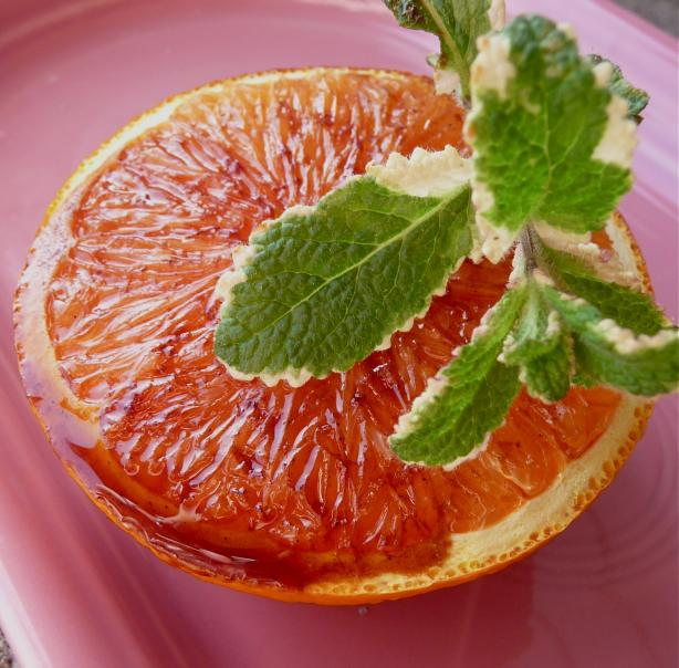 Grapefruit (Or Cara Cara Orange) With Pomegranate Syrup for 1