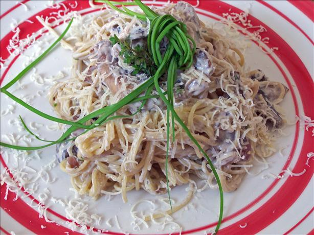Easy Angel Hair Pasta With Creamy Mushroom Sauce