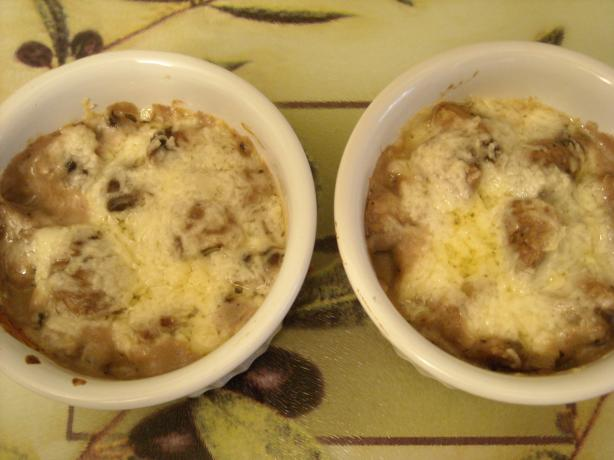 Chops' Mushroom Gratin With Asiago Cheese -- Lightened!