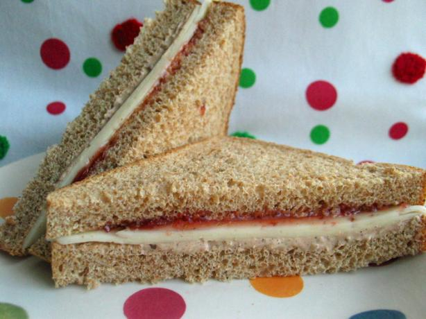 Cheesy Jam Sandwich With a Twist or Two
