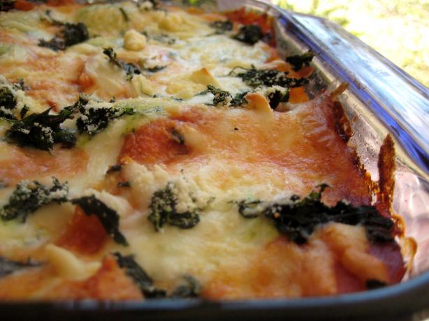 Easy Spinach Lasagne With Pesto and Cheese