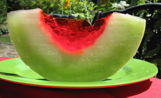 Jello Melon Wedges