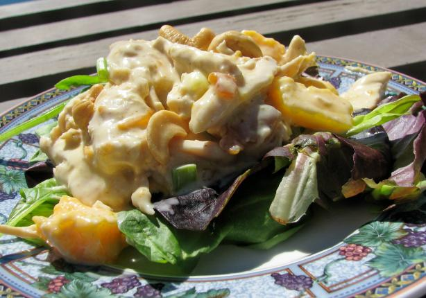 Curried Chicken Salad With Mangoes and Cashews