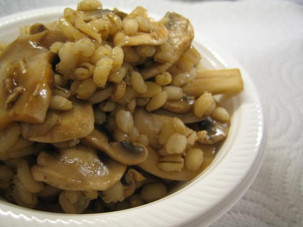 Quick Mushroom Barley Pilaf Ww