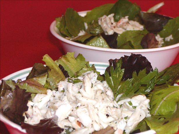 Lemony Crab Salad With Baby Greens