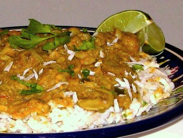 Curried Cauliflower over Fragrant East Indian Basmati Rice