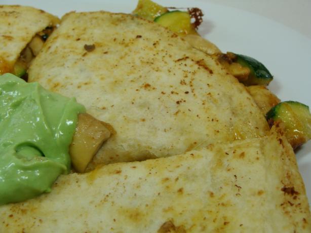 Spicy Vegetable Quesadillas