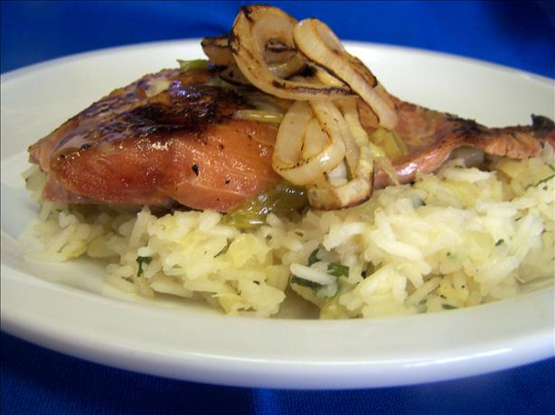 Grilled Chipotle Salmon With Pineapple Cilantro Rice