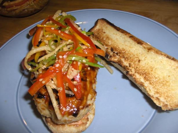 Chinese Chicken Burgers With Rainbow Sesame Slaw-Contest Winner!
