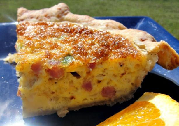 Canadian Bacon Onion Quiche (OAMC)