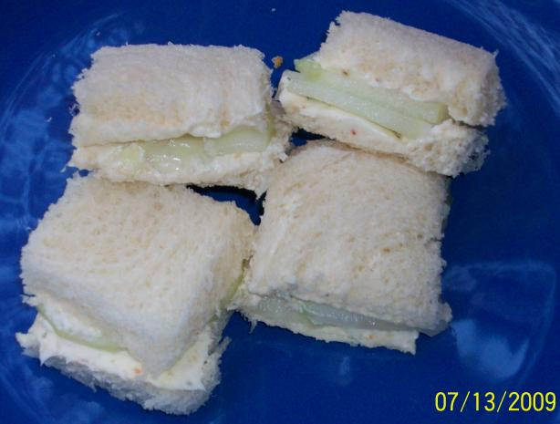 Cucumber and Cream Cheese Tea Sandwiches