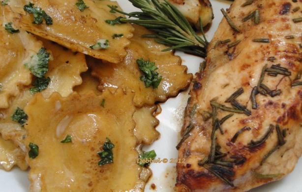 Rosemary Chicken Breasts & Brown Butter Balsamic Ravioli